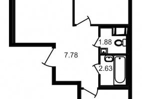 ул. Шоссе в Лаврики4, 2 Комнаты Комнаты,Квартира,Купить,ул. Шоссе в Лаврики,4,12783