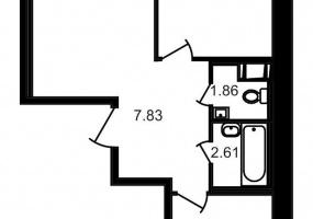 ул. Шоссе в Лаврики4, 2 Комнаты Комнаты,Квартира,Купить,ул. Шоссе в Лаврики,10,12786