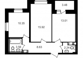 ул. Шоссе в Лаврики5, 2 Комнаты Комнаты,Квартира,Купить,ул. Шоссе в Лаврики,16,12870