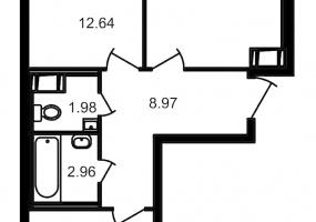 ул. Шоссе в Лаврики5, 2 Комнаты Комнаты,Квартира,Купить,ул. Шоссе в Лаврики,10,12876