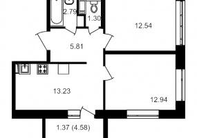 ул. Невзоровой2, 2 Комнаты Комнаты,Квартира,Купить,ул. Невзоровой,2,12961