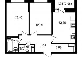 ул. Невзоровой2, 2 Комнаты Комнаты,Квартира,Купить,ул. Невзоровой,11,12976
