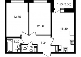 ул. Невзоровой2, 2 Комнаты Комнаты,Квартира,Купить,ул. Невзоровой,12,12982