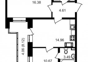 ул. Невзоровой2, 2 Комнаты Комнаты,Квартира,Купить,ул. Невзоровой,12,12984