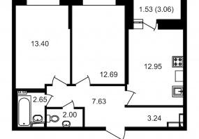 ул. Невзоровой2, 2 Комнаты Комнаты,Квартира,Купить,ул. Невзоровой,2,12988