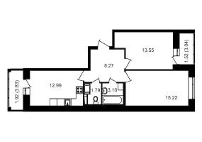 ул. Невзоровой2, 2 Комнаты Комнаты,Квартира,Купить,ул. Невзоровой,3,12989