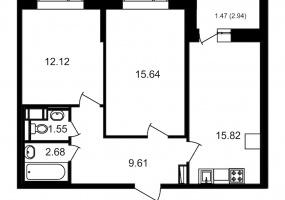 ул. Невзоровой2, 2 Комнаты Комнаты,Квартира,Купить,ул. Невзоровой,2,13001