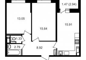 ул. Невзоровой2, 2 Комнаты Комнаты,Квартира,Купить,ул. Невзоровой,2,13006