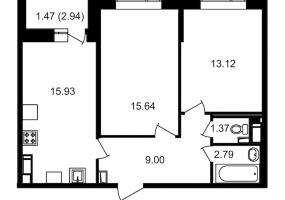ул. Невзоровой2, 2 Комнаты Комнаты,Квартира,Купить,ул. Невзоровой,19,13010