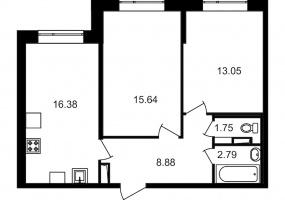 ул. Невзоровой2, 2 Комнаты Комнаты,Квартира,Купить,ул. Невзоровой,1,13014