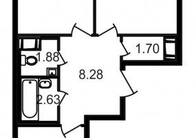 ул. Шоссе в Лаврики6, 2 Комнаты Комнаты,Квартира,Купить,ул. Шоссе в Лаврики,5,13075
