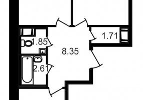 ул. Шоссе в Лаврики6, 2 Комнаты Комнаты,Квартира,Купить,ул. Шоссе в Лаврики,18,13076