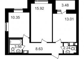 ул. Шоссе в Лаврики7, 2 Комнаты Комнаты,Квартира,Купить,ул. Шоссе в Лаврики,10,13206