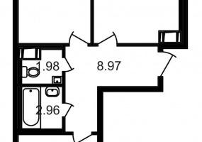 ул. Шоссе в Лаврики7, 2 Комнаты Комнаты,Квартира,Купить,ул. Шоссе в Лаврики,10,13211