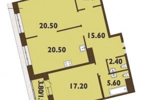ул. Смоленская1, 2 Комнаты Комнаты,Квартира,Купить,ул. Смоленская,12,5320